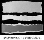 three pieces of torn paper on...   Shutterstock . vector #1198932571