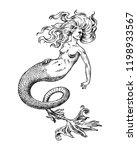 Mermaid Woman. Sea Siren....