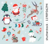 vector christmas characters...   Shutterstock .eps vector #1198936294