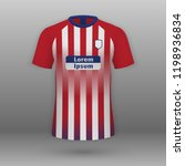 realistic football kit atletico ... | Shutterstock .eps vector #1198936834