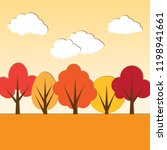 vector autumn paper applique... | Shutterstock .eps vector #1198941661