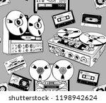seamless pattern. vintage... | Shutterstock .eps vector #1198942624