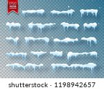 snow  ice cap with shadow.... | Shutterstock .eps vector #1198942657