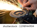 carpentry workshop. repairs.... | Shutterstock . vector #1198944904