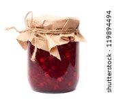 Jar With A Red Berries Jam....