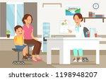 examination by pediatrician.... | Shutterstock .eps vector #1198948207