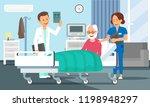 old man in hospital room... | Shutterstock .eps vector #1198948297