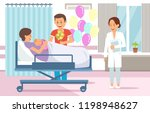maternity ward concept.... | Shutterstock .eps vector #1198948627