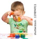 portrait of a cute little boy... | Shutterstock . vector #119894911