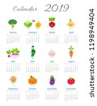 funny calendar 2019 year with...   Shutterstock .eps vector #1198949404