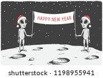 aliens congratulate us happy...   Shutterstock .eps vector #1198955941