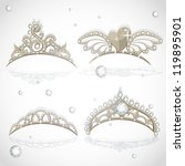 shining gold girls tiaras with... | Shutterstock .eps vector #119895901