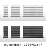 set of empty store shelves.... | Shutterstock .eps vector #1198961647