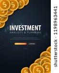 return on investment  roi ... | Shutterstock .eps vector #1198963441