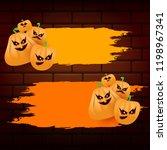 halloween web orange grunge...   Shutterstock .eps vector #1198967341
