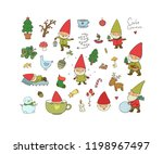 ute cartoon gnomes. new year's ... | Shutterstock .eps vector #1198967497