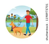 person alone at city park... | Shutterstock .eps vector #1198973701