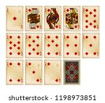 playing cards of diamonds suit... | Shutterstock .eps vector #1198973851