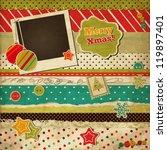 Christmas scrap vintage card - stock vector