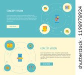 set of development icons flat... | Shutterstock . vector #1198978924
