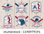 set of baseball or softball... | Shutterstock .eps vector #1198979191