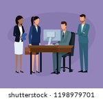 business colleagues in a... | Shutterstock .eps vector #1198979701