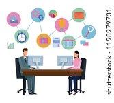 business partners brainstorming ...   Shutterstock .eps vector #1198979731