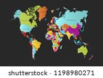 color world map vector | Shutterstock .eps vector #1198980271