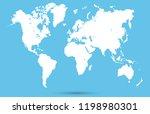 color world map vector   Shutterstock .eps vector #1198980301