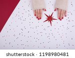 Red Festive Female Manicure....