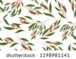 autumn seamless pattern with... | Shutterstock .eps vector #1198981141