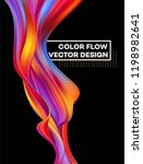 modern colorful flow poster.... | Shutterstock .eps vector #1198982641