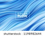 modern colorful flow poster.... | Shutterstock .eps vector #1198982644