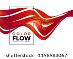 modern colorful flow poster.... | Shutterstock .eps vector #1198983067
