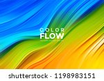 modern colorful flow poster.... | Shutterstock .eps vector #1198983151