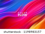 modern colorful flow poster.... | Shutterstock .eps vector #1198983157