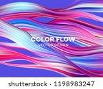 modern colorful flow poster.... | Shutterstock .eps vector #1198983247