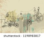 steampunk engine. character in... | Shutterstock .eps vector #1198983817