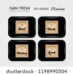 premium quality meat pack....   Shutterstock .eps vector #1198990504