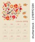 Cute Calendar For 2019 Year....