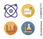 chemistry icon set. vector set... | Shutterstock .eps vector #1198996771