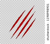 monster tear claw scratch mark. ... | Shutterstock .eps vector #1198998901