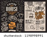 coffee restaurant menu. vector... | Shutterstock .eps vector #1198998991