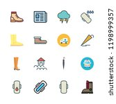 rain icon set. vector set about ... | Shutterstock .eps vector #1198999357