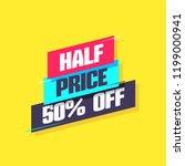 half price 50  off label   Shutterstock .eps vector #1199000941