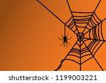 halloween spider. halloween...   Shutterstock .eps vector #1199003221