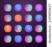 neurotoxin injection app icons... | Shutterstock .eps vector #1199003617