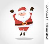 santa jump | Shutterstock .eps vector #119900644