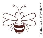 cute bee cartoon | Shutterstock .eps vector #1199007757