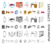furniture and interior cartoon... | Shutterstock .eps vector #1199013691